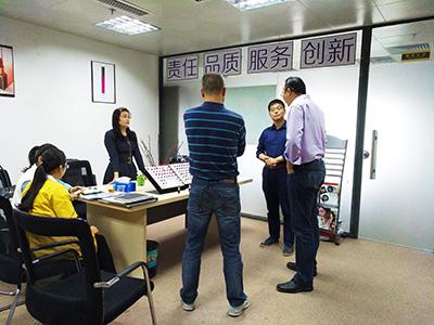 深圳分公司所在地政府相关领导来公司视察